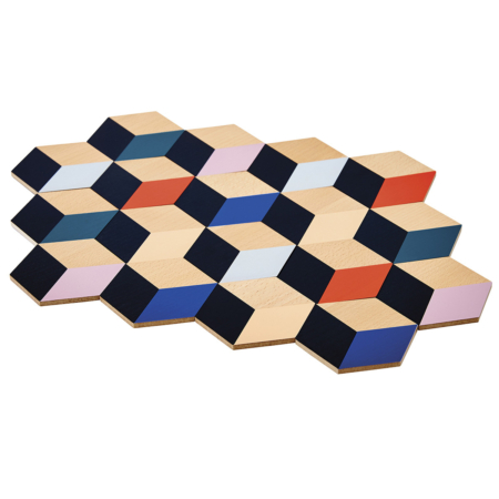 Coasters - Table Tiles all connected in a cutout image