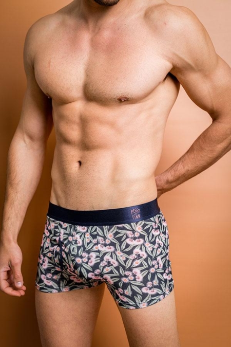 Bamboo Boxers - Flowering Gum on a model front view