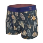 Bamboo Boxers - Coastal Flora front view