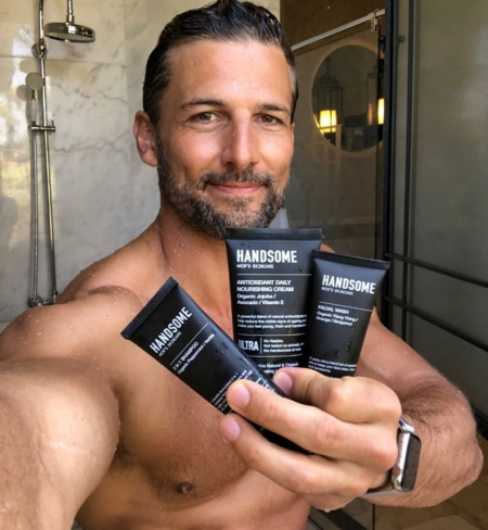 Handsome Men's Skincare products with Tim Robards