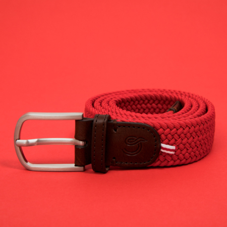 La Boucle Mono Belt - Brussels on a red background