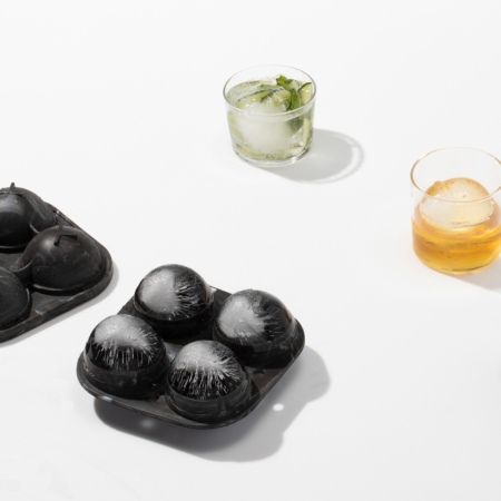 Sphere Ice Mold Marble with drinks and ice mold