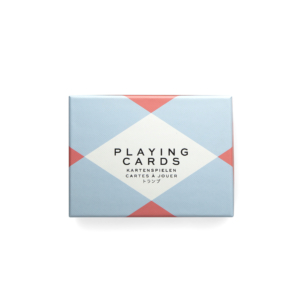 Box of cards with reed and blue pattern
