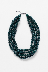Green Aari Multi Strand Necklace front on on white background
