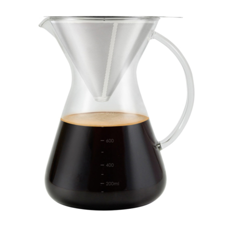Pour Over Coffee Dripper with coffee