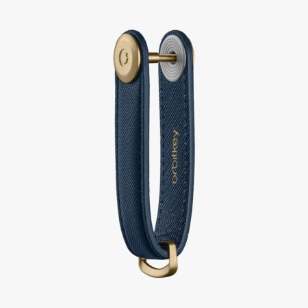 Orbitkey - Saffiano leather - oxford navy with inside detail