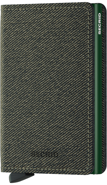 Slimallet - twist green front on closed view